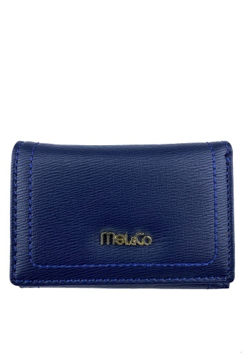 Mel&Co navy Faux Leather Mid-size Wallet CDCA8AC672144DGS_1
