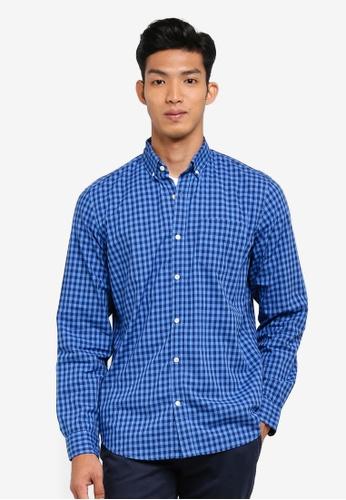 GAP blue Standard Poplin Shirt BBE60AACDD3D43GS_1