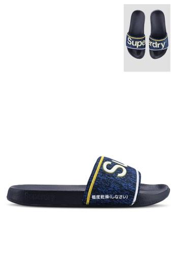 Superdry navy Superdry College Pool Slides 2CB10SH7E20C45GS_1