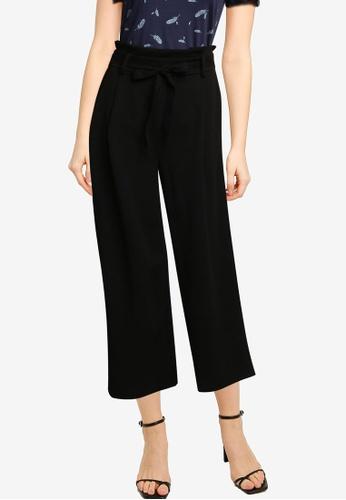 Springfield black Tie Waist Culottes 0FE33AACC0EA97GS_1