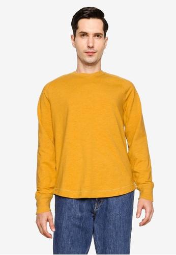 Banana Republic 黃色 Brushed Slub Crew T-shirt 500C7AA9E0E171GS_1