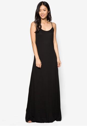 基本款細肩帶連身長裙, 服飾,zalora taiwan 時尚購物網鞋子 洋裝