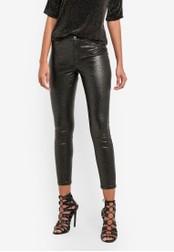 Dorothy Perkins black Petite Coated Glitter Frankie Jeans DO816AA0SB7CMY_1