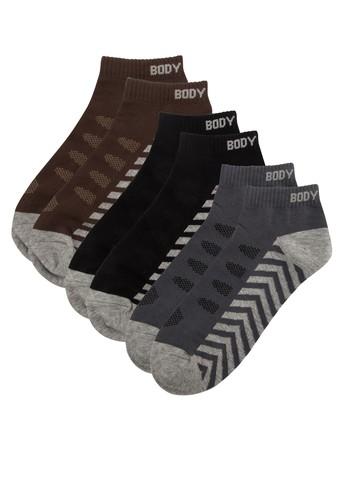 三入色塊印esprit holdings limited花棉質襪子, 服飾, 男性服飾