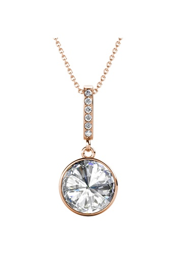LOVE AND LIFE gold Love & Life Round Hangling Pendant with Necklace (Rose Gold) embellished with Crystals from Swarovski F928EACA517544GS_1