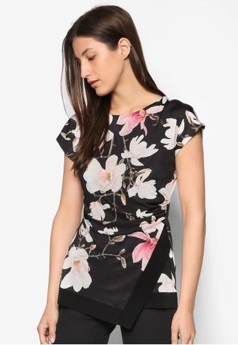 Magnolia 印花裹飾短袖上衣, 服esprit服飾飾, Fun Fresh Flirty