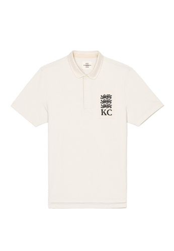 Kent and Curwen white Short Sleeves Pure Cotton Rugby Polo C835BAA3738D73GS_1