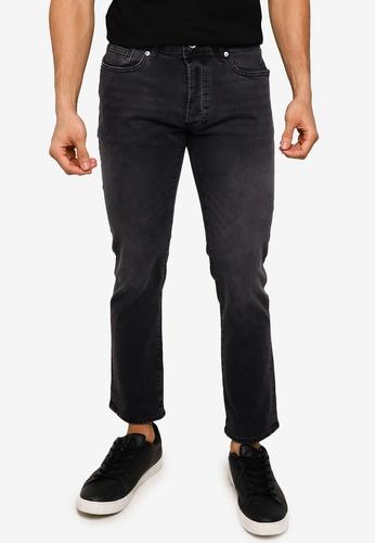 Topman black Washed Black Stretch Slim Jeans BE75EAA3B67DC0GS_1