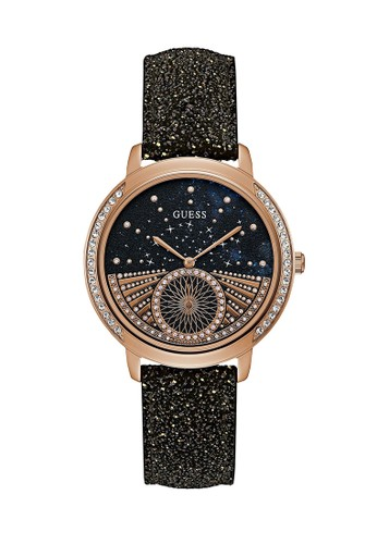 Guess Watch black Guess Jam Tangan Wanita - Black Rosegold - Leather Strap - W1005L2 FC8A4ACBC61BFDGS_1
