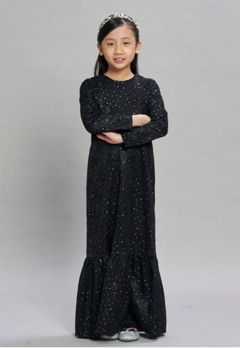 Loveaisyah black Galaxy Black Girl Dress Baju Hari Raya 75D89KAF7664BEGS_1