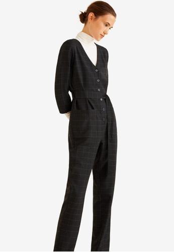 Mango black Bow Long Jumpsuit 5E5D2AAEA7EC57GS_1