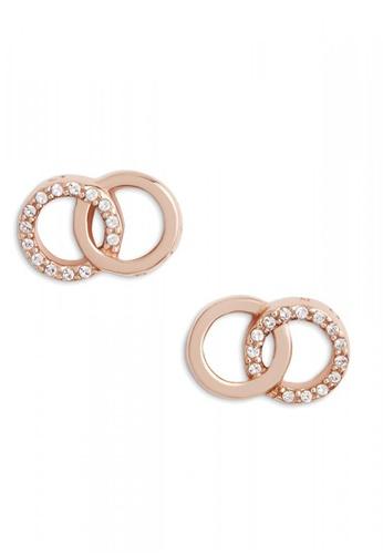 Olivia Burton gold Olivia Burton Bejewelled Classics  Rose Gold Earrings (OBJCOE75) A5314AC9C41583GS_1