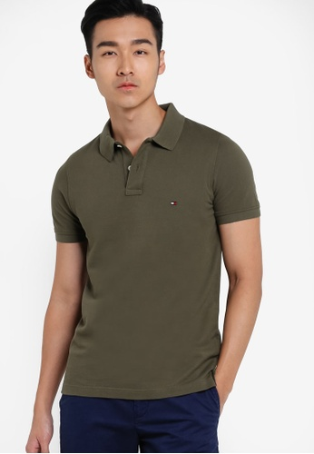 Tommy Hilfiger green SLIM FIT POLO S/S SF TO861AA50FOJMY_1