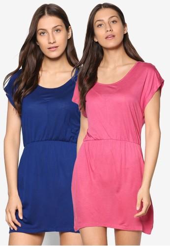 二入腰飾短袖連身裙組esprit 寢具合, 服飾, 夏日洋裝