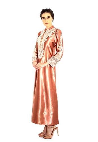Adam.R brown Zeytoun A-line Dress DC69BAAE5AA984GS_1