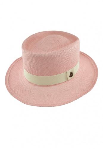 ECUA-ANDINO pink Dumont Pink Panama Hat 9DDF2AC077077FGS_1