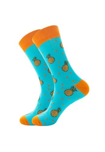 Kings Collection blue Sky Blue Pineapple Cozy Socks (EU39-EU45) F12EEAA78B1760GS_1