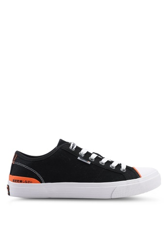 Superdry black Trophy Classic Low Sneakers 4CEAFSH3E6DD95GS_1