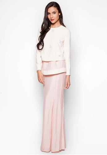 Justeen Baju Kurung from JLuxe in Pink