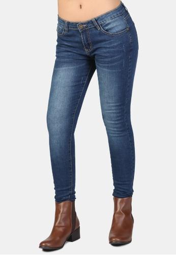 London Rag blue Low Rise Skinny Jeans D55F4AA7E5B0E4GS_1
