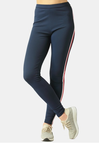 London Rag navy Striped Tape Side Leggings 10A4FAA3FC2683GS_1