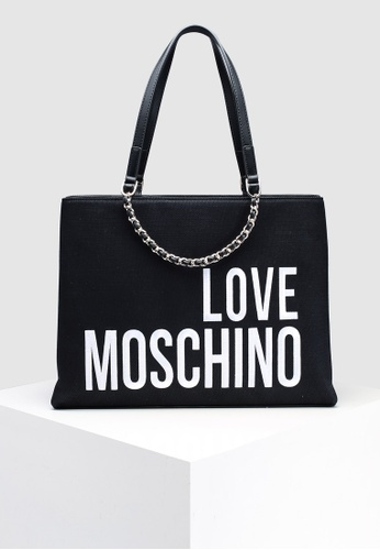 038e91ee625e Buy Love Moschino Canvas Tote Bag Online on ZALORA Singapore