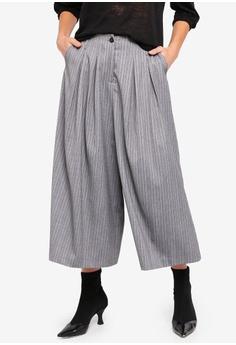 f59ffa8823 Sisley grey Contrasting Stripe Pants 8AD8EAA494FC35GS 1