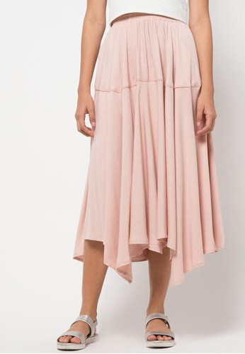 3SECOND pink Maxi Skirt 4 3S395AA72RGLID_1