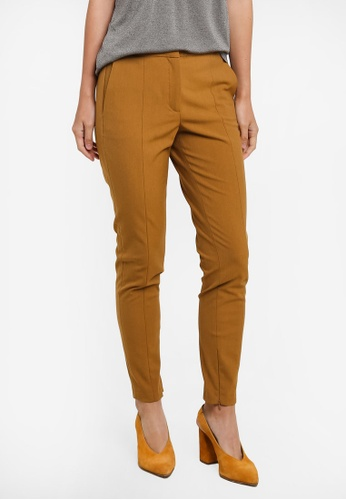 Selected Femme brown Muse Cropped Pants SE157AA0S471MY_1
