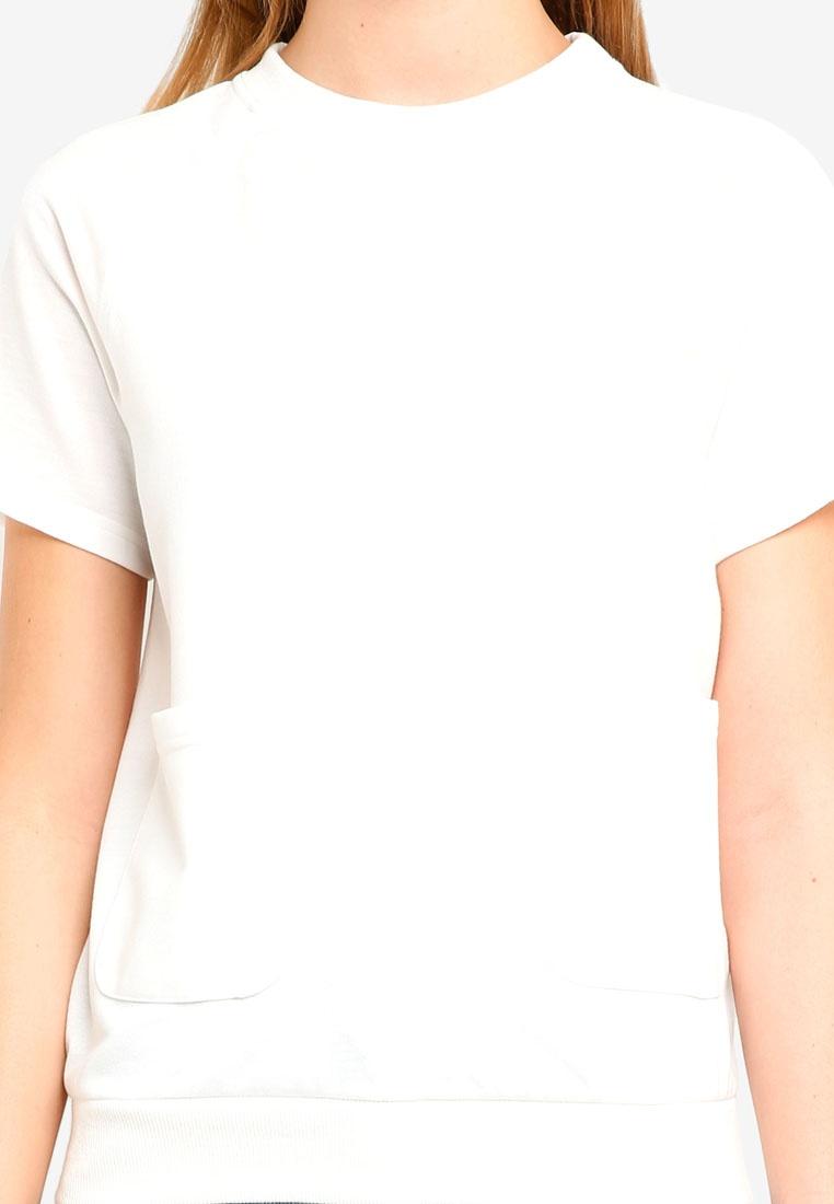 ZALORA White BASICS Top Basic Sweatshirt Raglan ZPZ6Cq