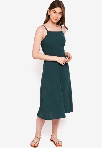 Something Borrowed green Cami Midi Dress CD00EAA05FC982GS_1