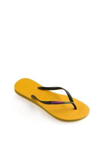 Havaianas yellow Slim Brasil Flip Flops 1EF18SHDEB574CGS_1