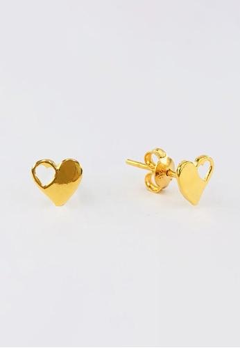 Arthesdam Jewellery gold Arthesdam Jewellery 916 Gold Heart Cutout Earrings 809E6AC4613F44GS_1