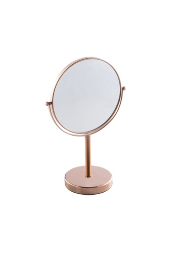 JVD JVD Lifestyle Fiesta Desktop Double-Side Mirror with 3 times magnification on 1 side, Rose Gold Chrome finishing D403FHL0D0C513GS_1