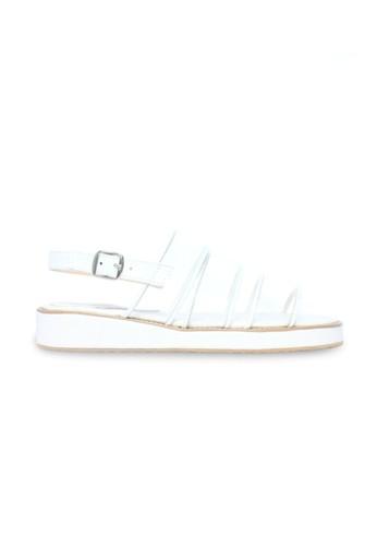 Valerie White Transparent Platform Sandals