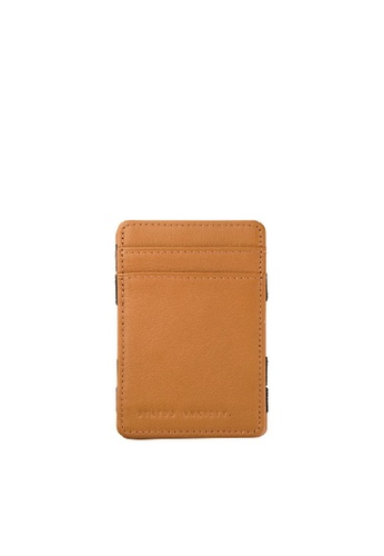 Status Anxiety brown Status Anxiety Soft Calf Leather Flip Money Card Holder Wallet - Tan C48EBACCEB39ADGS_1