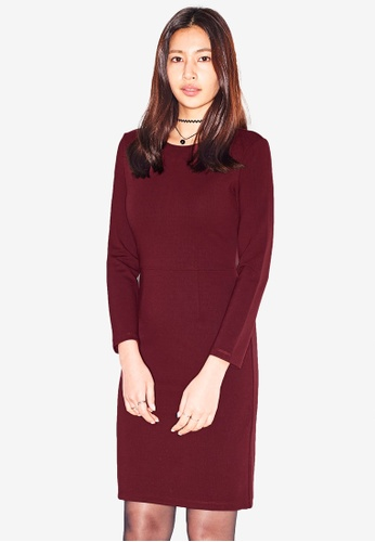 c1f5d04f4eeb49 Shop NAIN Long Sleeve Jersey Dress Online on ZALORA Philippines