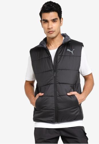 PUMA black Essential Men's Padded Vest 505ACAAB2FDC55GS_1