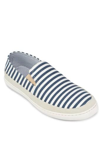 條紋帆布休zalora taiwan 時尚購物網鞋子閒鞋, 鞋, 休閒鞋