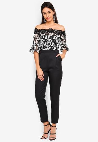 Paper Dolls black Aubrais Crochet Lace Jumpsuit 7E786AA1476E9FGS_1