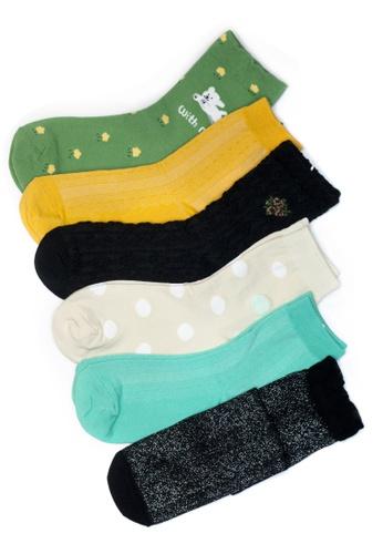 Shu Talk 多色 6對套裝混款韓國製襪 8225DAA0074924GS_1