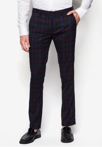 格紋貼esprit tote bag身長褲, 服飾, 窄管褲
