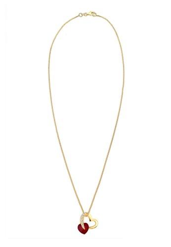 心心相印施華洛世奇esprit 台北水晶 925 銀項鍊, 飾品配件, 項鍊