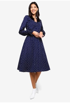 1f9ee9873e 15% OFF ZALORA Button Detail Long Sleeves Dress RM 145.00 NOW RM 122.90  Sizes XS S M