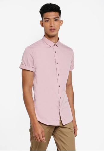 River Island pink Turnover Hem Shirt 0CB19AA05BC7B3GS_1