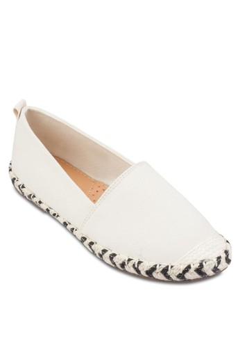 Kalia 雙色編織麻繩esprit 澳門懶人鞋, 女鞋, 鞋