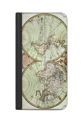 Casetify multi Wallet Case with RIFD for iPhone X - Antique World Map III  50BFFAC5A32BF8GS_1