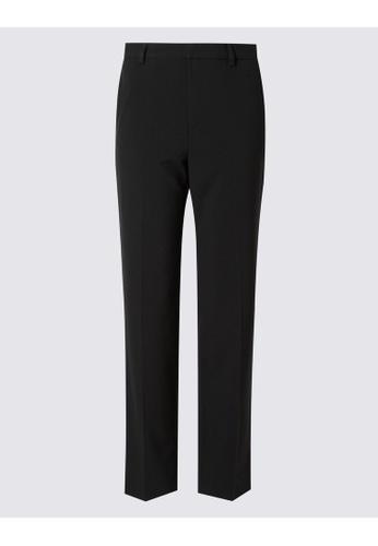 MARKS & SPENCER black M&S Straight Leg Trousers 15B16AA2283362GS_1