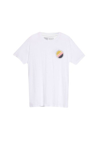 !Solid white Hector Crew Neck T-Shirt D68BCAAA9B88EDGS_1