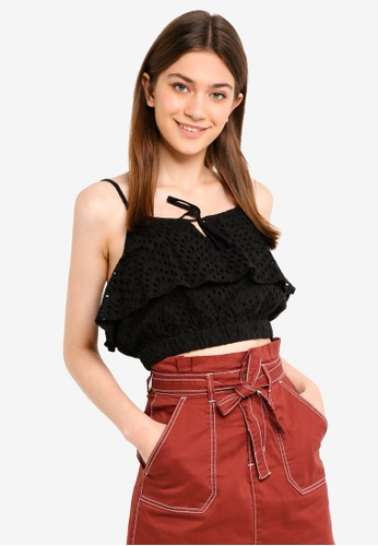 Cotton On black Brooke Cami Top 04504AA45997E6GS_1